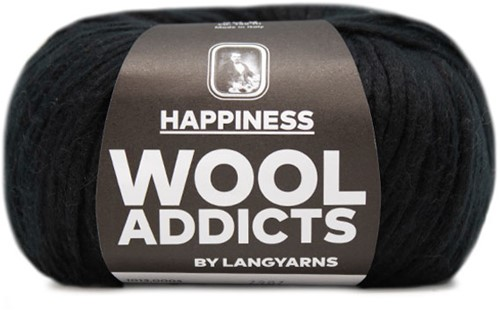 Wooladdicts Good Mood Omslagdoek Breipakket 2 Black