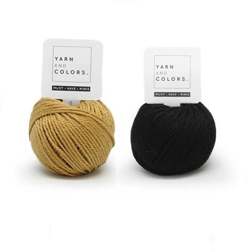 Yarn and Colors Mini Malistic WOW! Muurhanger Pakket 089 Gold / Black