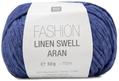 Fashion Linen Swell Aran Sweater Breipakket 3 40/42 Azure