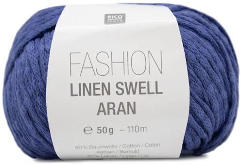 Fashion Linen Swell Aran Vest Breipakket 3 42/46 Azure