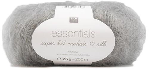Essentials Super Kid Mohair Silk Vest Breipakket 3 44/46 Light Grey Melange