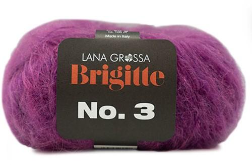 Brigitte no. 3 Sjaal Breipakket 3 Violet