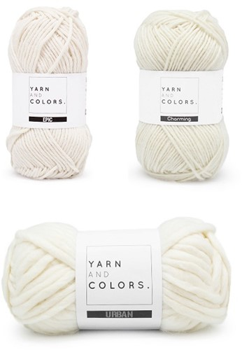 Yarn and Colors Three is a Charm WOW! Muurhanger Pakket 091 Cream