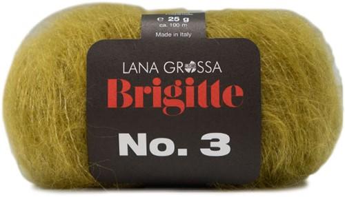Brigitte no. 3 Sjaal Breipakket 4 Olive