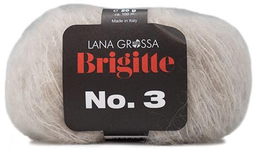 Brigitte no. 3 Sjaal Breipakket 5 Beige
