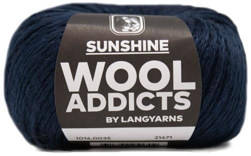 Wooladdicts Whitty Whirlwind Top Breipakket 6 L/XL Marine