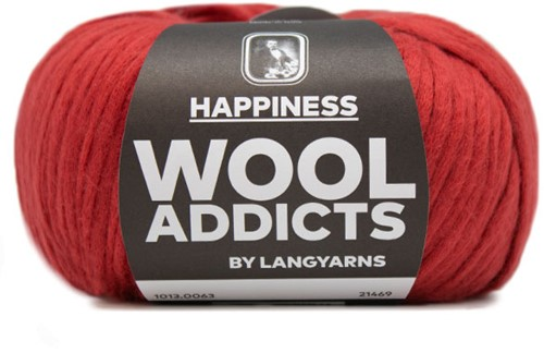 Wooladdicts Good Mood Omslagdoek Breipakket 9 Dark Red