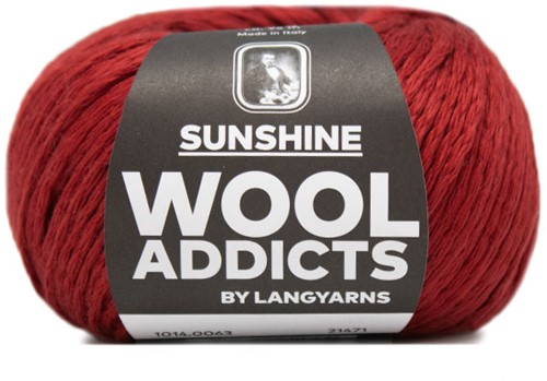 Wooladdicts Glow-Getter Trui Breipakket 9 L Dark Red
