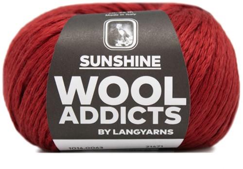Wooladdicts Like Sunbeams Omslagdoek Breipakket 9 Dark Red