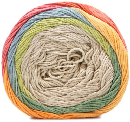 Fair Cotton Craft Kindertrui Breipakket 1 Beige / Pisctachio / Green / Yellow / Orange / Coral / Red