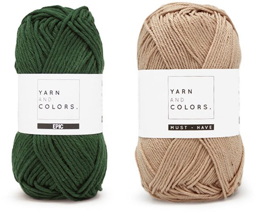 Yarn and Colors Shower Pouf Haakpakket 088 Forest