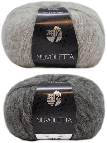 Nuvoletta Raglanmantel Breipakket 2 Light/Dark Grey 48/50