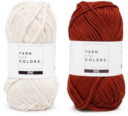 Yarn and Colors Striped Jumper Reversed Breipakket 6 L Chestnut
