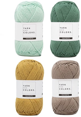 Yarn and Colors Favorite Clean Cloths Haakpakket 073 Jade Gravel