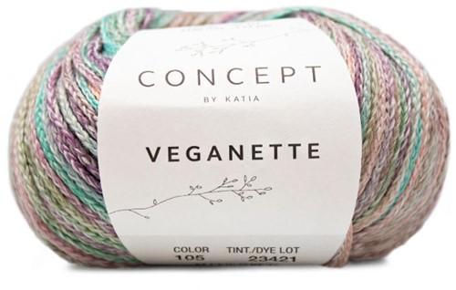 Veganette Meisjesvest Breipakket 1 2 jaar Pearl Nut / Light Violet / Stone Grey / Aqua Blue