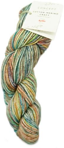 Cotton-Merino Craft Kort Vest Breipakket 1 Blue/Yellow/Red 38/42