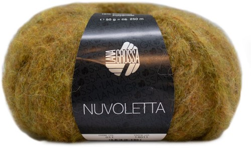 Nuvoletta Lang Vest Breipakket 1 Mustard 42/46