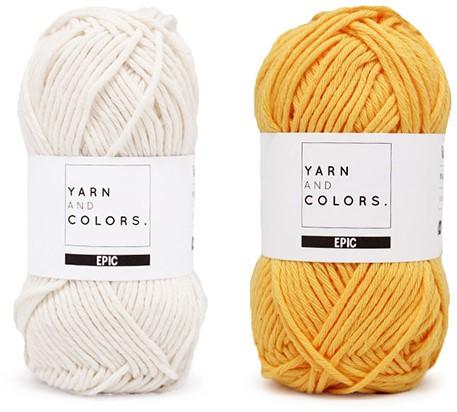 Yarn and Colors Striped Jumper Reversed Breipakket 1 L Sunflower