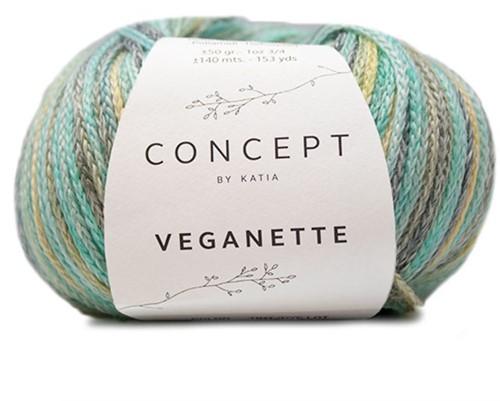 Veganette Meisjesvest Breipakket 2 6 jaar Smaragd Green / Lemon Yellow / Grey