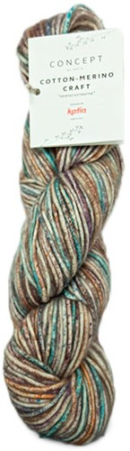 Cotton-Merino Craft Kort Vest Breipakket 2 Brown/Lila/Turquoise 44/48