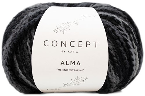 Alma Cardigan Breipakket 2 Black/Grey 44/48