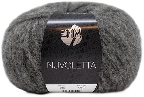 Nuvoletta Lang Vest Breipakket 2 Dark grey 42/46