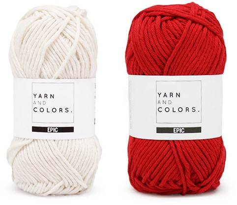 Yarn and Colors Striped Jumper Reversed Breipakket 2 L Cardinal