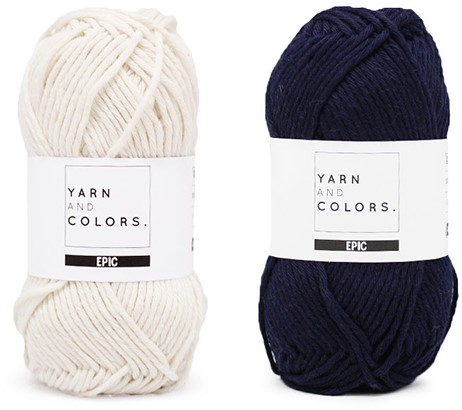 Yarn and Colors Striped Jumper Reversed Breipakket 3 S Dark Blue