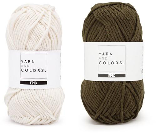 Yarn and Colors Striped Jumper Reversed Breipakket 4 S Khaki