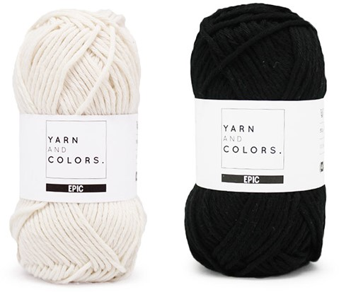 Yarn and Colors Striped Jumper Reversed Breipakket 5 XL Black