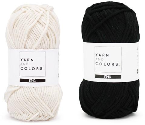 Yarn and Colors Striped Jumper Reversed Breipakket 5 S Black