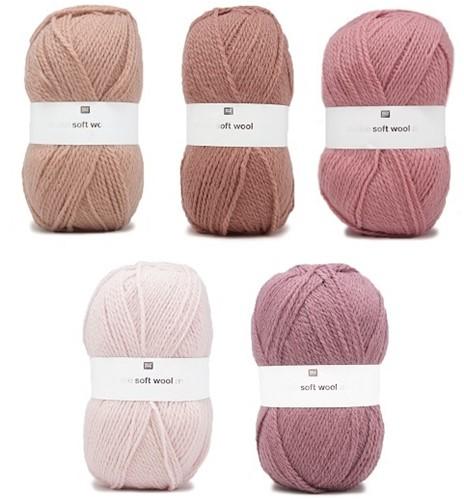 Creative Soft Wool Aran Babydeken Haakpakket 1