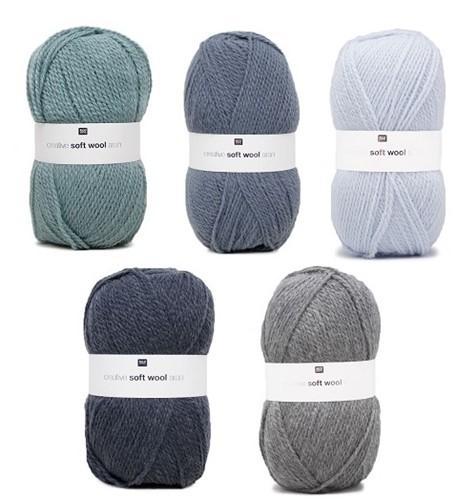 Creative Soft Wool Aran Babydeken Haakpakket 2