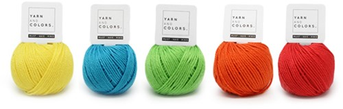 Wolplein Regenboog Wagenspanner Haakpakket 6 Colorful