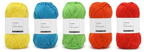 Wolplein Regenboog Babydeken Haakpakket 6 Colorful Ledikantdeken