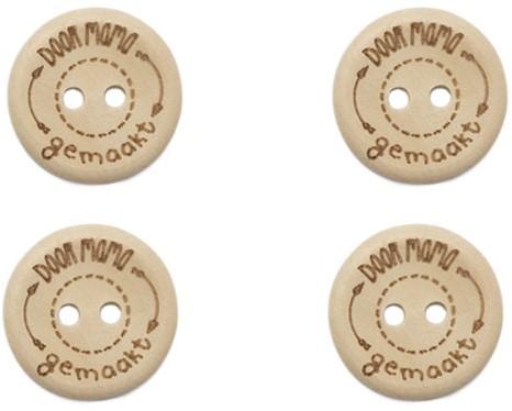 Durable Houten Knopen Door Mama Gemaakt 20mm 4 stuks