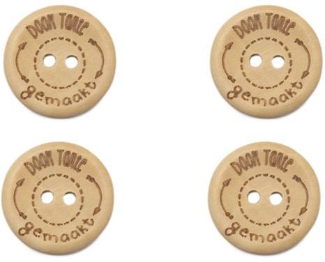 Durable Houten Knopen Door Tante Gemaakt 20mm 4 stuks