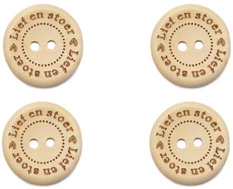 Durable Houten Knopen Lief En Stoer 20mm 4 stuks