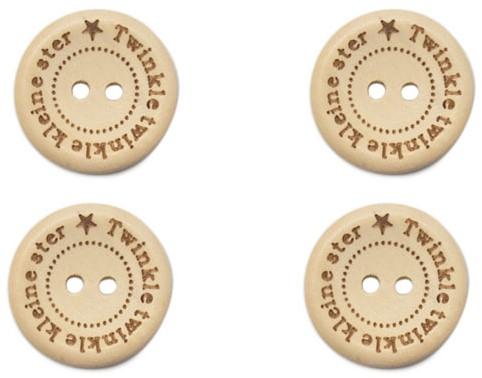 Durable Houten Knopen Twinkle Twinkle Kleine Ster 20mm 4 stuks