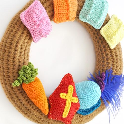 Haakpatroon Sinterklaas krans