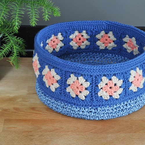 Haakpatroon Granny square mand