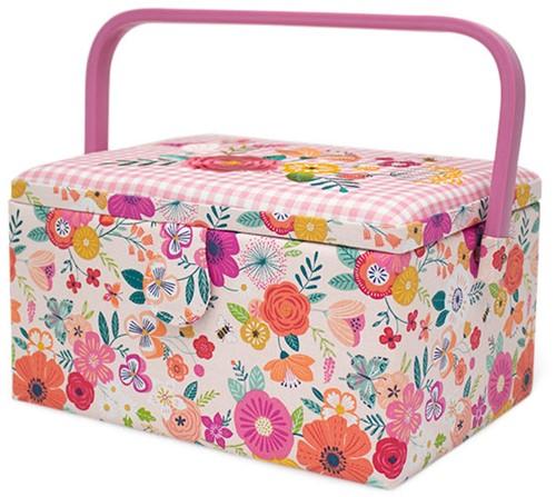 Naaimand Medium Floral Garden Pink