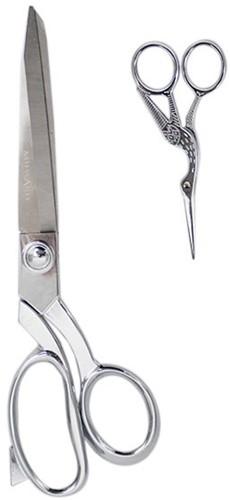 Milward Set Stoffenschaar (25,5cm) & Borduurschaar (11,5cm) Silver