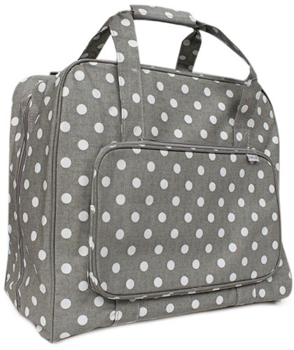 Naaimachine Tas Grey Linen Polka Dot