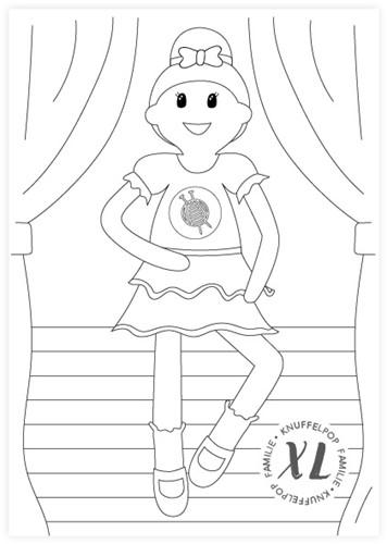 Kleurplaat Wolplein XL Knuffelpop - Ballerina Sofie