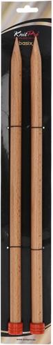KnitPro Basix Birch Breinaalden 40cm 15mm
