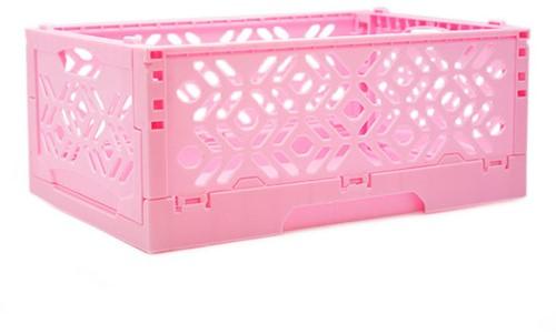 Wolplein Inklapbaar Opbergkratje Roze