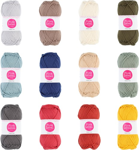Pink Label Cotton Tube Alle Kleuren Pakket