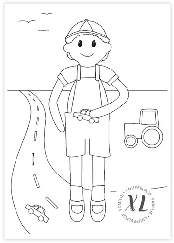 Kleurplaat Wolplein XL Knuffelpop - Vriendje Sam