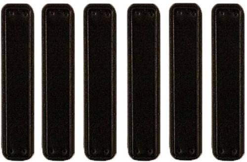 Leren Labels Zwart 6 stuks 10CM